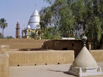 Grave of Al-Mahdi Lies Beneath the Large Mausoleum in Back, His Former Home Is in Foreground, Sudan-Nigel Pavitt-Photographic Print