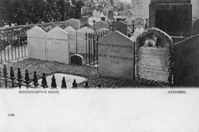Grave of the Poet William Wordsworth, Grasmere, Westmorland, 20th Century--Giclee Print