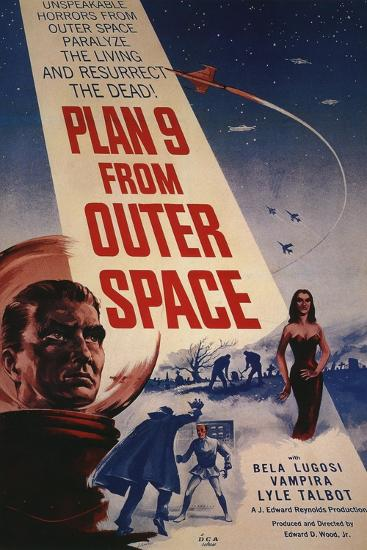 "Grave Robbers From Outer Space, 1959, ""Plan 9 From Outer Space"" Directed by Ed Wood--Giclee Print"
