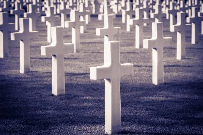 Graves at the American Cemetery, Omaha Beach, Colleville-Sur-Mer, Normandy, France-Russ Bishop-Photographic Print