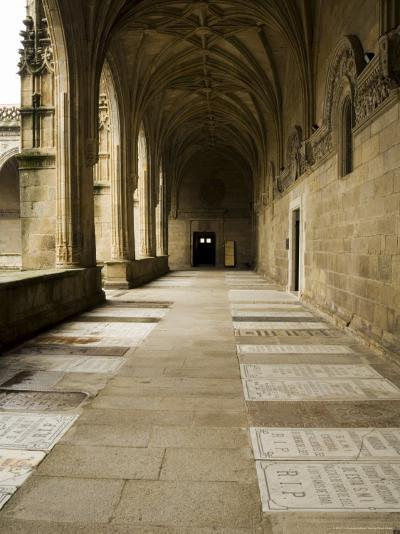 Graves in the Cloisters of Santiago Cathedral, Santiago De Compostela, Galicia, Spain-R H Productions-Photographic Print