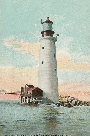Graves Lighthouse, Boston Harbor--Art Print