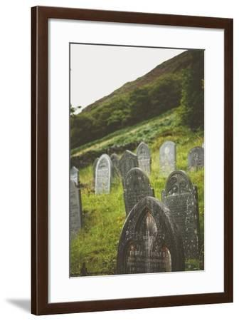 Gravestones in a Churchyard-Clive Nolan-Framed Photographic Print