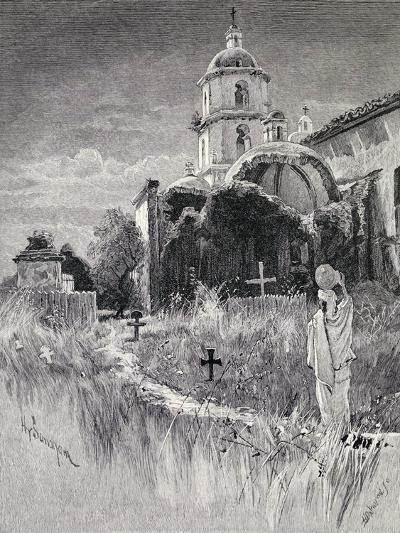 Graveyard and Mission, San Luis Rey De Francia, California, from 'The Century Illustrated Monthly…-Henry Sandham-Giclee Print