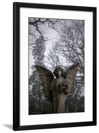 Graveyard in England in Winter-David Baker-Framed Photographic Print