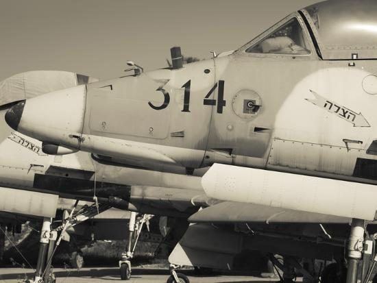 Graveyard of Us-Built A-4 Fighters, Israeli Air Force Museum, Be-Er Sheva, the Negev, Israel-Walter Bibikow-Photographic Print