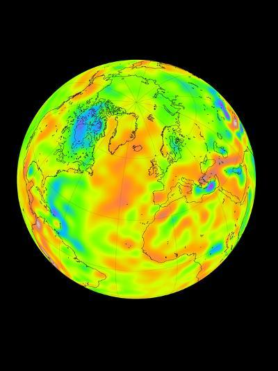 Gravity Map of the Whole Earth-Mark Simons-Photographic Print