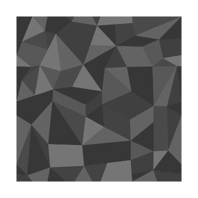 Gray Abstract Geometric Pattern-cienpies-Art Print