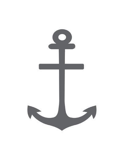 Gray Anchor-Jetty Printables-Art Print