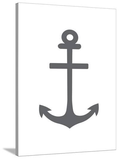 Gray Anchor-Jetty Printables-Stretched Canvas Print