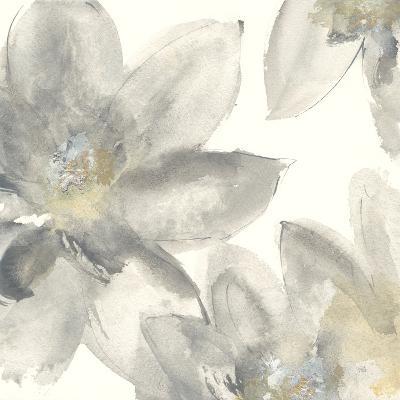 Gray and Silver Flowers I-Chris Paschke-Art Print