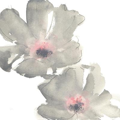 Gray Blush Cosmos I on White-Chris Paschke-Art Print