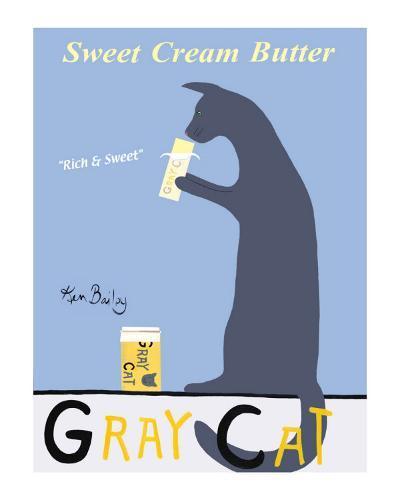 Gray Cat-Ken Bailey-Collectable Print