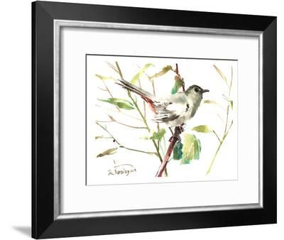 Gray Catbird 2-Suren Nersisyan-Framed Art Print