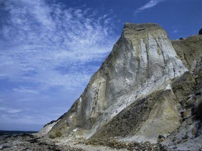 Gray Cliff, Gay Head Beach, Marthas Vineyard-Gary D^ Ercole-Photographic Print