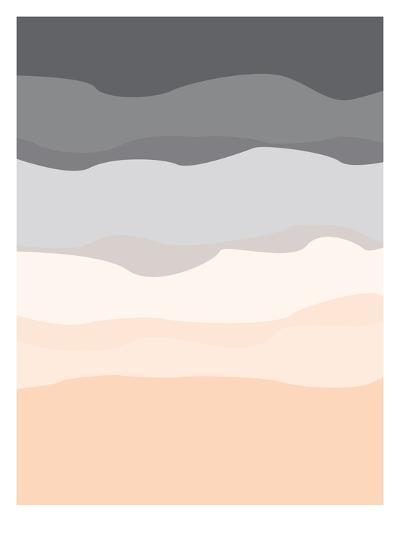 Gray Peach Abstract-Jetty Printables-Art Print