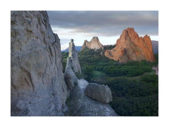 Gray Rock and South Gateway Rock, Garden of the Gods, Colorado-Tim Fitzharris-Art Print