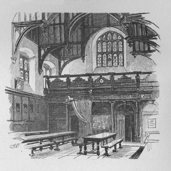 'Gray's Inn Hall', 1890-Unknown-Giclee Print