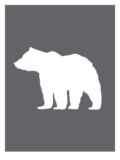 Gray White Bear-Jetty Printables-Art Print