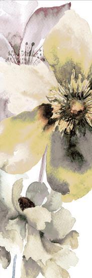 Gray Yellow Petals 1-Victoria Brown-Art Print