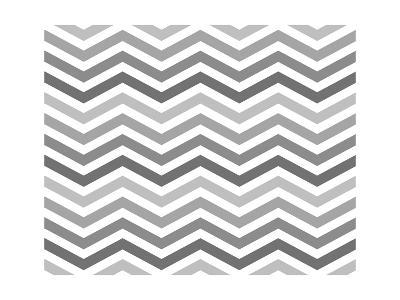Gray Zigzag Pattern Background-Karen Roach-Art Print