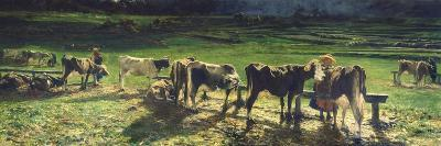 Grazing, 1886-Giovanni Segantini-Giclee Print