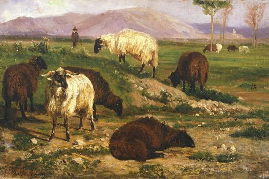 Grazing Animals-Nicola Palizzi-Giclee Print