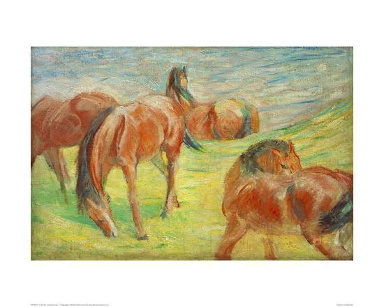 Grazing Horses I-Franz Marc-Giclee Print