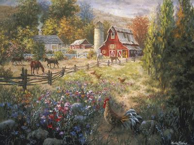 Grazing the Fertile Farmland-Nicky Boehme-Giclee Print