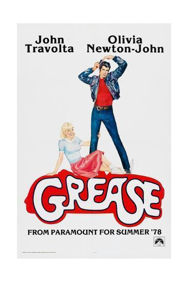Grease, John Travolta, Olivia Newton-John, 1978, © Paramount Pictures/courtesy Everett Collection--Art Print
