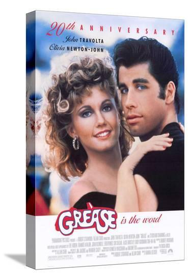 Grease--Stretched Canvas Print