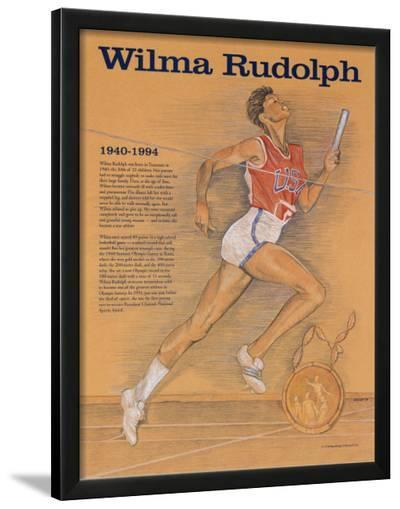 Great American Women - Wilma Rudolph--Lamina Framed Art Print