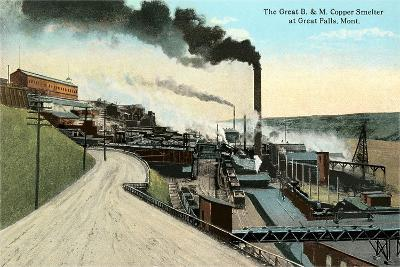 Great B and M Copper Smelter, Great Falls, MT--Art Print