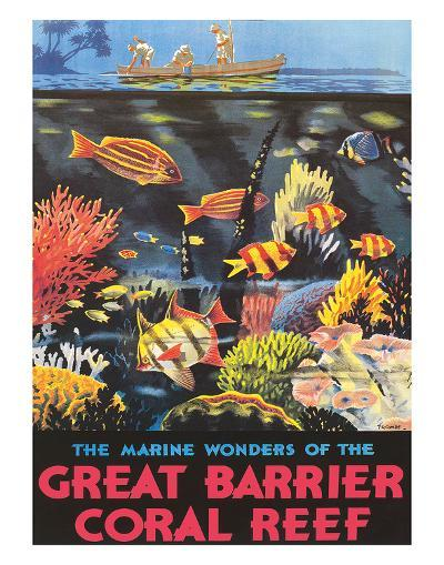Great Barrier Coral Reef c.1933-Frederick Phillips-Giclee Print