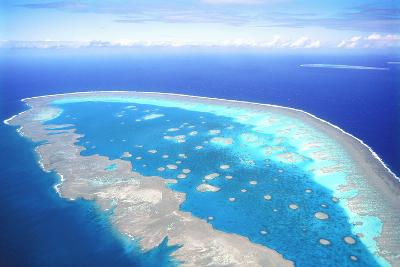 Great Barrier Reef Aerial View--Photographic Print