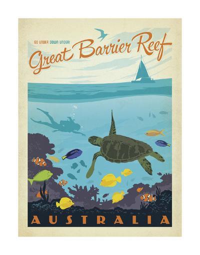 Great Barrier Reef, Australia-Anderson Design Group-Art Print