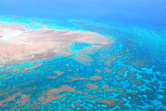 Great Barrier Reef, Cairns Australia, Seen from Above-dzain-Photographic Print