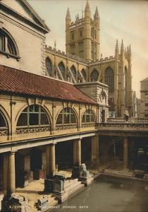 Great Bath, Roman Baths, Bath, Somerset, C1925
