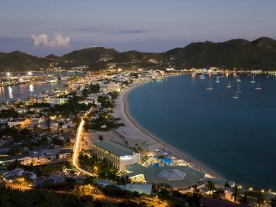 Great Bay and the Dutch Capital of Philipsburg, St. Maarten, Netherlands Antilles, West Indies-Gavin Hellier-Photographic Print