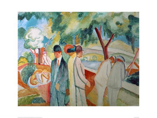 Great Bright Walk-Auguste Macke-Giclee Print