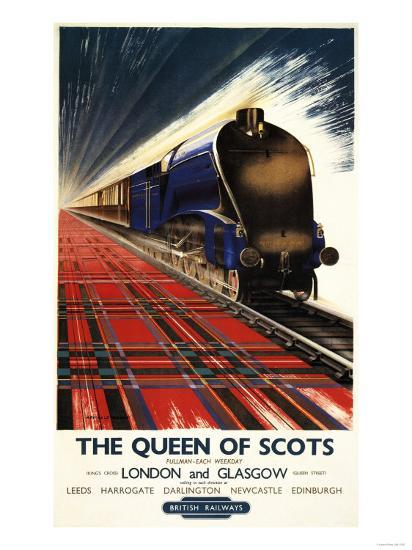 Great Britain - Queen of Scots Pullman Train British Railways Poster-Lantern Press-Art Print