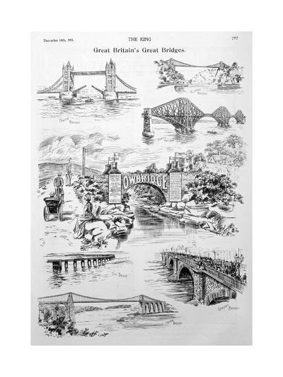 Great Britain's Great Bridges, Advert for Owbridge Lung Tonic, 1901--Giclee Print