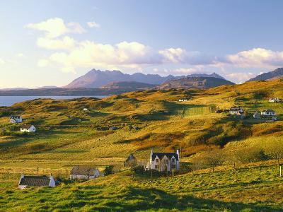 Great Britain, Scotland, Hebrides, Island Skye, Tarskavaig, Cuillin Hills-Thonig-Photographic Print