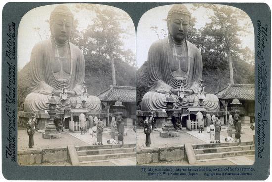 Great Bronze Buddha, Kamakura, Japan, 1904-Underwood & Underwood-Giclee Print