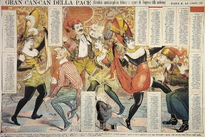 Great Can-Can of Peace (Dance Couples of Dancers are Germany and England--Giclee Print