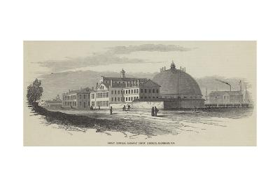 Great Central Railway Depot Detroit, Michigan, Us--Giclee Print