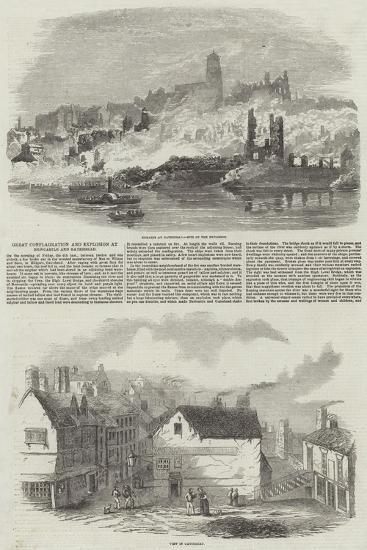 Great Conflagration and Explosion at Newcastle and Gateshead--Giclee Print