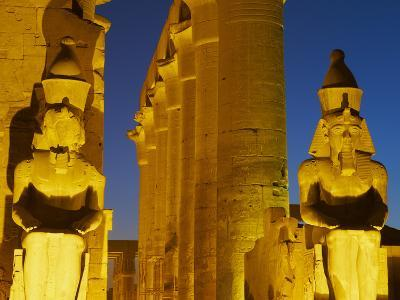 Great Court of Ramesses Ii and Colossal Statues of Ramesses Ii, Temple of Luxor, Thebes, UNESCO Wor-Tuul-Photographic Print