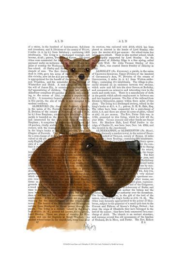 Great Dane and Chihuahua-Fab Funky-Art Print