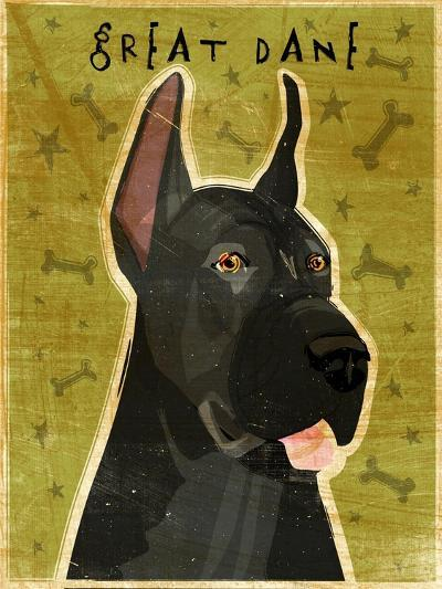 Great Dane Black-John W Golden-Giclee Print